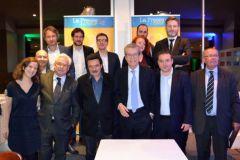 Les lauréats des Trophées de l'innovation presse 2016 le soir de la remise des prix le 23 novembre..