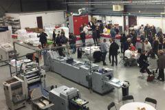 La porte-ouverte de Graphiscann le 18 novembre a attiré beaucoup de monde venu découvrir le nouveau parc machine.