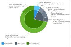 Exemple de diagramme présentant les différentes expériences du candidat.