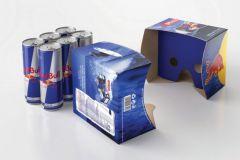 Un packaging Red Bull qui se transforme en casque de réalité virtuelle.