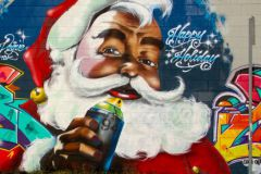 Père Noël, Graffiti Californie
