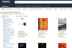 Capture écran du 26 janvier en début d'après-midi de la liste des meilleurs ventes Amazon USA mises à jour chaque heure.