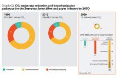 Réduction des émissions de CO2 et voies de décarbonisation pour l'industrie européenne papetière d'ici 2050.