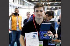 Jérémy Kootz, 21 ans, médaillé d'or des Olympiades des métiers 2017 de l'imprimerie.