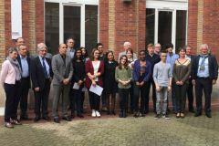 Les 18 lauréats de la bourse Heidelberg France et Daniel Nadeau, parrain de la promotion 2016/2017.