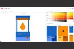Capture écran d'une combinaison chromatique créée avec Color Tool