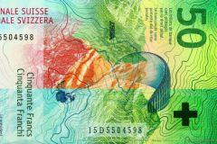 Le billet de 50 francs suisses élu plus beau billet de banque 2016.