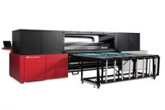 L'imprimante Jeti Tauro H2500 led UV d'Agfa.