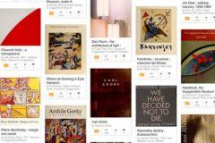 Capture écran de la bibliothèque du musée Guggenheim de New York