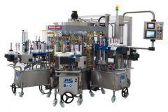 Étiqueteuse rotative mixte et modulaire auto adhésive et colle froide, Modular de PE Labellers.