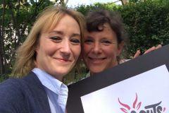 Marie et Anne, salariées chez l'imprimeur Desbouis Grésil participeront à l'édition 2018 du Rallye des Gazelles.