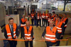 De g. à d., Miles Roberts (CEO Groupe), Thibault Laumonier (DG Packaging France), Stefano Rossi (CEO Division Packaging)
