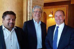 Fabrice Pennec, Nassib Kazma et Gilles Mure Ravaud, membres du conseil d'administration du GMI