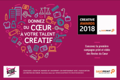 Lancement du concours Creative Awards by Saxoprint 2018