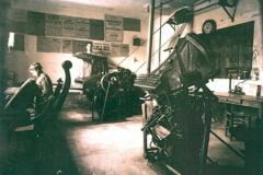 L'atelier du Crestois en 1920.