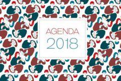 Agenda 2018 réalisé par les étudiants de l'Ecole Estienne.