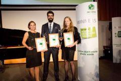 Lauréats de l'édition 2017 du concours Pro Carton jeunes designers.