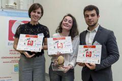 Le 3e prix pour Clémence Houeix, Tiphaine Bernard, Robin Pichon de FS PACK Cognac avec leur emballage Env'lo Pain.