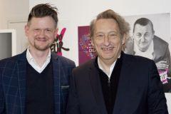 Daniel Ackermann (directeur de Saxoprint) et Pascal Grégoire, président du jury (à droite)