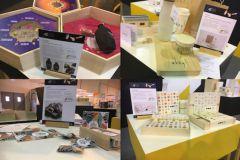 Exposition de projets étudiants dans le packaging.
