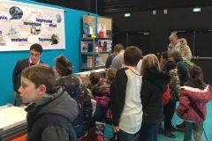 Stand des Industries graphiques à Angers pour les Olympiades des métiers.