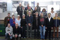 L'équipe de la scop Imprimerie Coopérative des Sucs au complet.