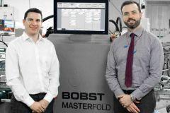 James Griffin, directeur des opérations de Beamglo, et Craig McGowan, directeur des ventes de BOBST UK & Ireland