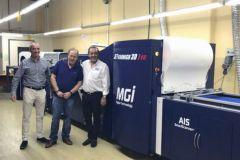 Heret Packaging et Victor Abergel (à droite), co-fondateur et directeur général de MGI