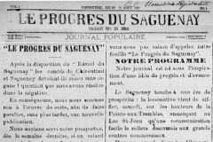 L'imprimerie imprimait Le Progrès du Saguenay depuis 1887