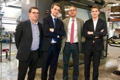 Olivier Duclos, Hubert Pédurand, Patrick Manteigueiro, et Édouard Floch du groupe Laballery