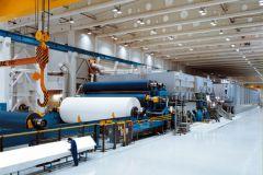 La machine à papier PM9 de l'usine Verzuolo de Burgo