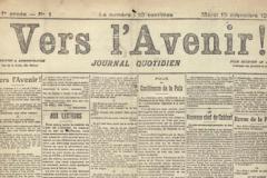 Le Journal belge L'Avenir (lancé en 1918) change de format et d'imprimerie.