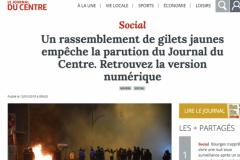 Capture d'écran du Journal du Centre.