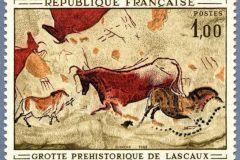 Le précédent timbre de la grotte de Lascaux imprimé en 1968.