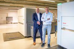 Kristof Vanden Bussche de Kodak Belgique et Bart De Bie, pdg d'Antilope De Bie Printing