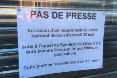 Grève du syndicat du Livre face à la réforme de la distribution de la presse