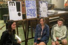 Les trois lauréats du concours d'affiches 2019 du Musée de l'Imprimerie de Nantes
