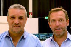 Christophe Escande (à gauche) et Laurent de Rosa, les deux nouveaux dirigeants de Pôle Impression.