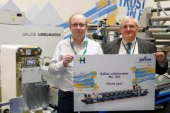 Philippe Carré de Heidelberg France et Christian Linossier, pdg d'Interfas, au salon Labelexpo 2019.