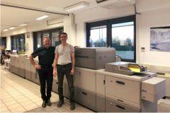 Philippe Malaval, le pdg de l'imprimerie Vassel, et Yvan Rimet, le directeur de production.