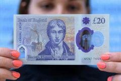 Oeuvre d'art, polymère et réalité augmentée pour le nouveau billet de banque anglais