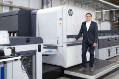 Jürgen Winkler d'Onlineprinters a participé au développement de la presse HP.