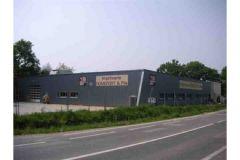 Les nouveaux bâtiments de l'imprimerie Romefort (44), depuis la route d'Orvault