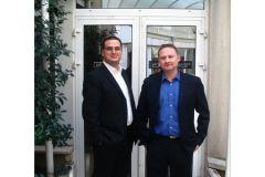 Fabrice Mahé et Pascal Bienvenu, les deux co-dirigeants d'Alternative Numérique