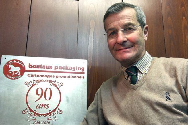 Géry Bailliard est le pdg de l'imprimerie Boutaux Packaging qui a été fondée en 1926.