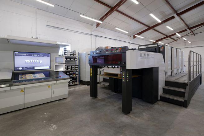 L'atelier de l'imprimerie Atlantique Offset.