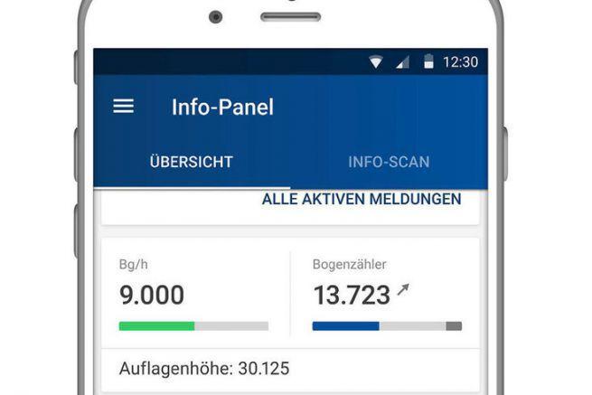 L'appli KBA Rapida permet de surveiller et commander les presses offset depuis son smartphone.