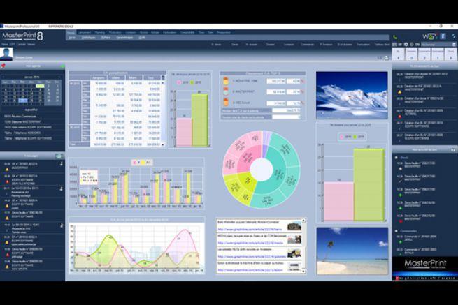 Les nouvelles automatisations renforcent les fonctions de l'ERP Masterprint Professional 8iocis (en photo).