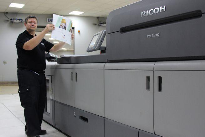 La Ricoh Pro C9100 a été mise en production chez Data One au printemps.