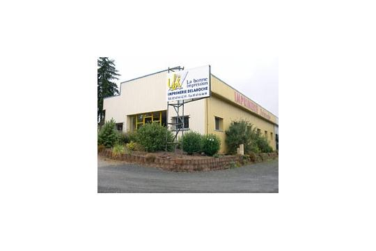 Le site de l'imprimerie Delaroche à Rignac, Aveyron.